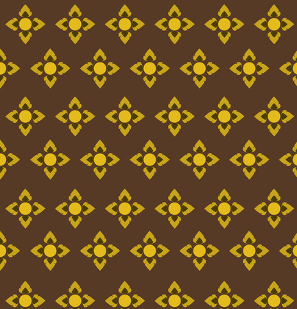 vector of Thai ancient style pattern seamless background  illustration  向量圖像