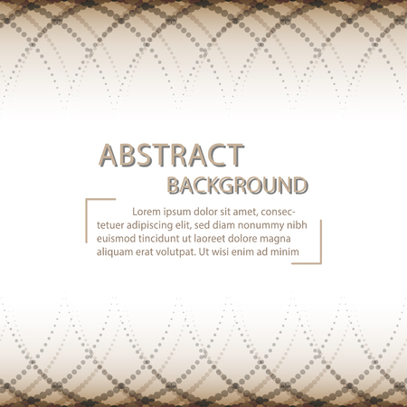 vector of abstract background  brown and gray color dots triangle shape with copy space