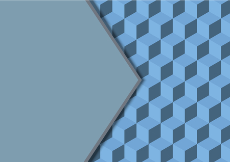 abstract background seamless cubes and copy space vector illustration
