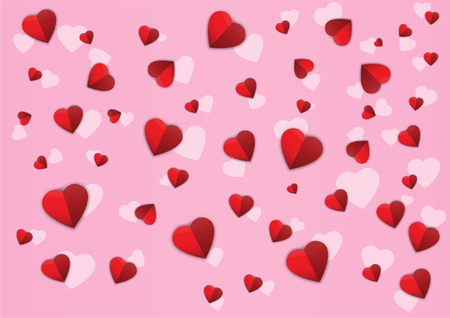 vector of confetti hearts pattern for banner,poster,background
