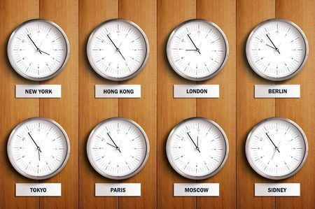 time zone: Time Zone Stock Photo