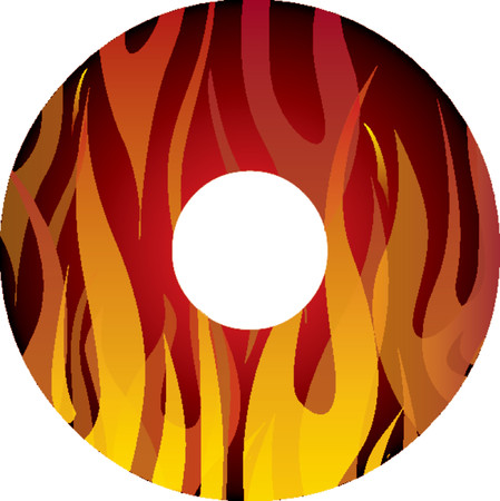 recordable: Flames inside mask fully editable