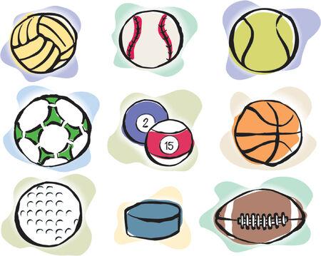 Sport Balls Vector Icons Stock Vector - 979750