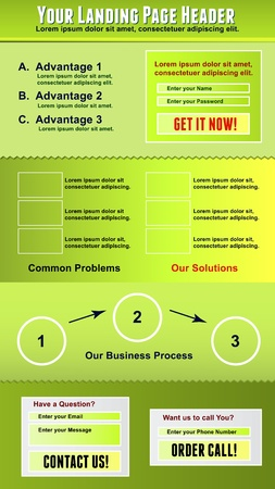Landing Page Template  Vector Illustration Vector