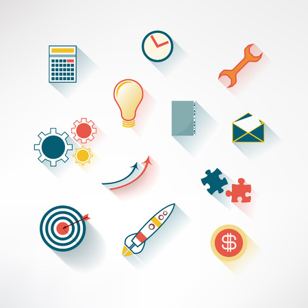 Set of colorful business icons made in modern flat design  Vector illustration Vector