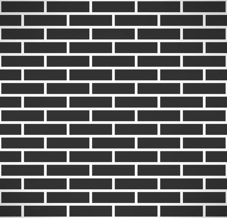 brickwall: Pared de ladrillo negro sin patr�n. Sencillo edificio fondo muro de piedra. Ilustraci�n vectorial