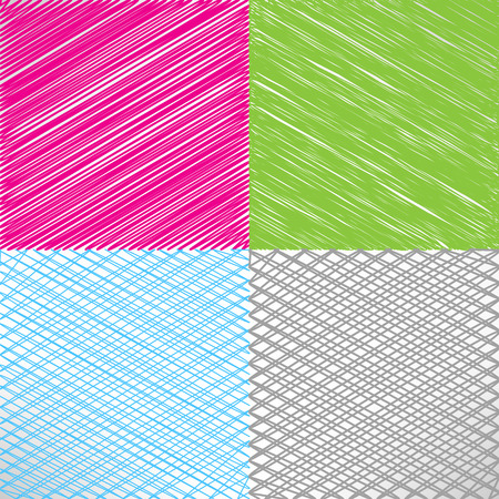 Set of pencil and marker hatching background Vector