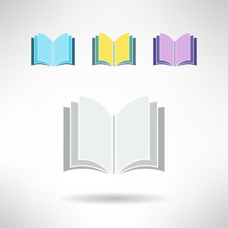Set of simple book icons. Notebook sign. Learning and library concept. Vector illustration Illustration