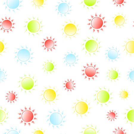 patten: Bright sunny seamless patten. Summer and spring background. Vector illustration
