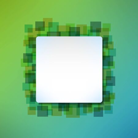 squared: Banner message frame on abstract squared background. Vector illustration