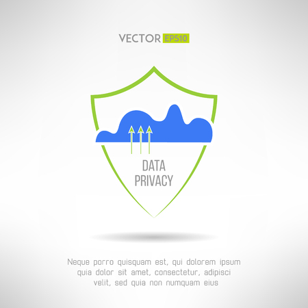the guard: Cloud computing security. Data protection concept. Vector illustration Illustration
