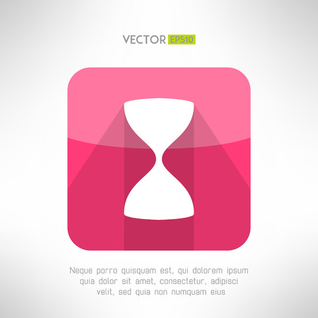 sand glass: Sand glass icon in modern flat design. Old hourglass sign. Vector illustration