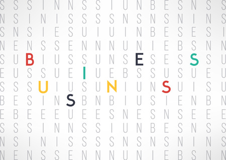 business word: Business background template suitable for presentations and reports. Business word letters background. Vector illustration. Illustration
