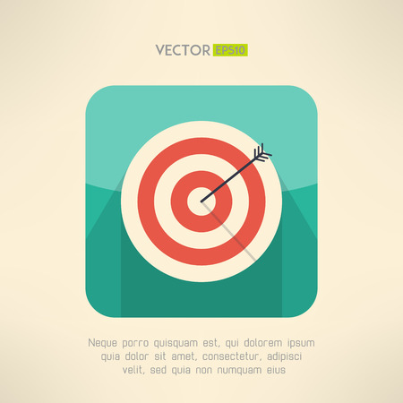 Round target board with arrow icon. Success and accuracy concept. Vector illustration Illustration