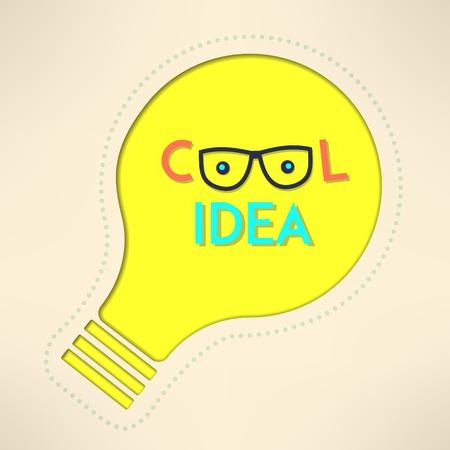 creativity concept: Light bulb cool idea with googles background. Inspirational design. Creativity concept. Vector illustration