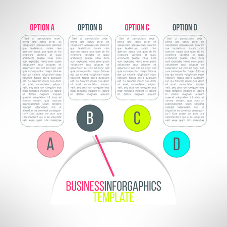 Vector Business Process Steps Infographic Elements Options Choice - Process steps template
