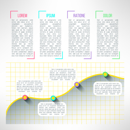 web page elements: Vector of graph infographic template. Chart and diagram presentation or web page elements.