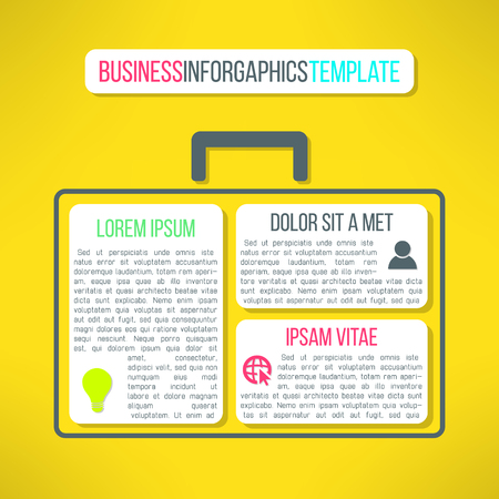 project plan: Vector business infographic template with a case. Suitable for presentation, web layout or project plan diagram.