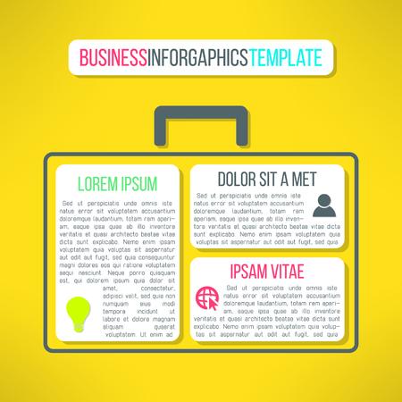 piano di progetto: Vector business template infografica con un caso. Adatto per la presentazione, layout web o diagramma piano di progetto.