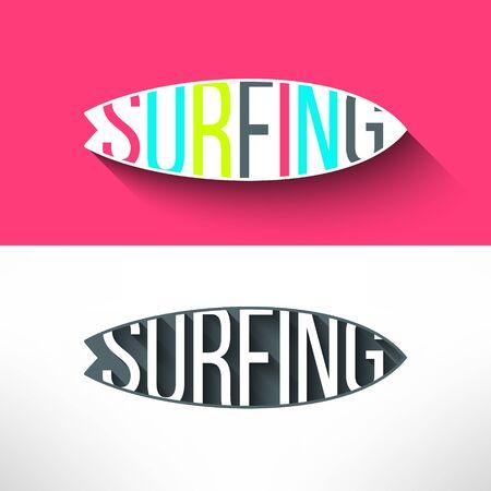 보드 급증 내부 벡터 서핑 활판 인쇄술. T 셔츠 서핑 보드 그래픽 디자인입니다. 영감 스포츠 배경.