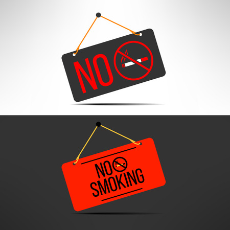 interdiction: Vector no smoking sign. Cigarette forbidden board. Health concept.