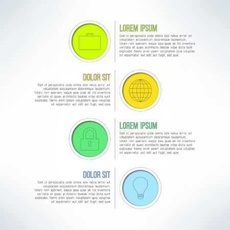 colurful: Vector colorful circle banners and label elements set. Suitable for infographics and web design. Business process steps template.