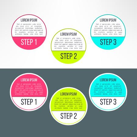 Vector Business Process Steps Circles Infographics Template - Process steps template