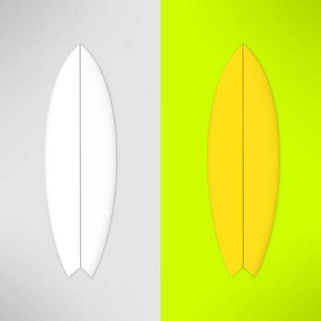 surf board: Vector surfboard in realistic design. Photorealistic surfing board. Illustration