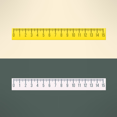 Vector realistic ruler tool. Education and office design element.