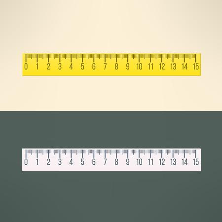 Vector realistic ruler tool. Education and office design element. Reklamní fotografie - 44979669