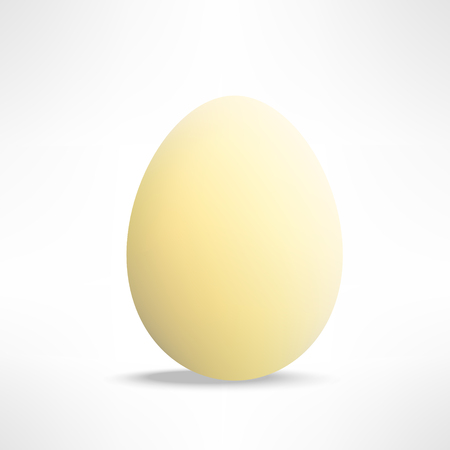 yellowish: Vector realistic yellowish egg on white background.