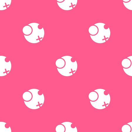 circled: Vector geometrical seamless pattern with circles and cross. Pink circled background.