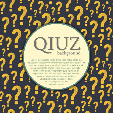 questionably: Vector quiz background. Question and answer concept.