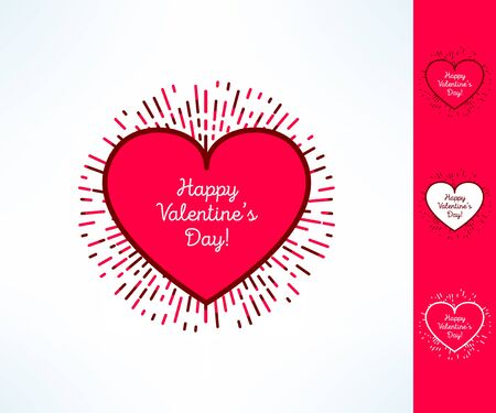 outburst: Set of vector valentines hearts on tribal outburst background. Love and romance design element. Illustration