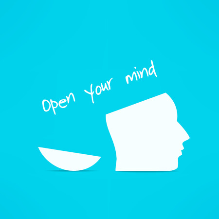 Open your mind design. Free your mind. Creative concept.