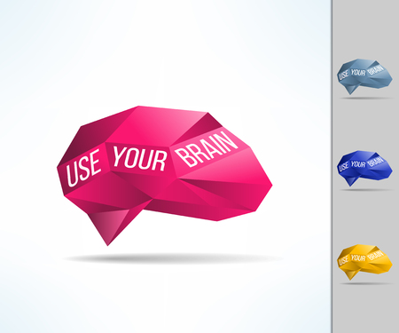 Use your brain phrase. Mind and intelligence using. Importance of intelligence use concept with text.