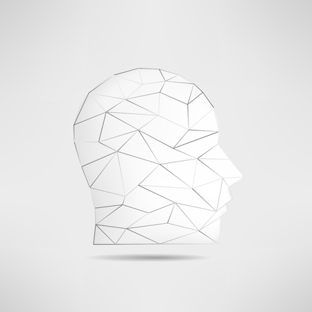guest: Human head profile silhouette isolated. 3d mans head avatar. Internet anonymous head profile pic. Social network guest avatar.