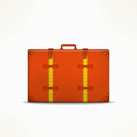 Travel case sign. Retro traveling design element. Travel case isolated. Vintage travel case icon. Ilustração
