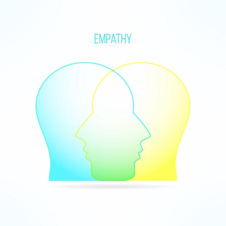 compassionate: Empathy icon. Empathic person concept. Compassion design. Compassionate feelings and emotions. Illustration