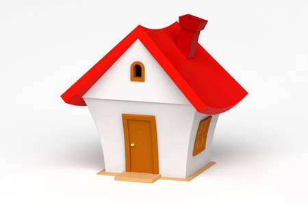 house illustration: 3d model of a little house