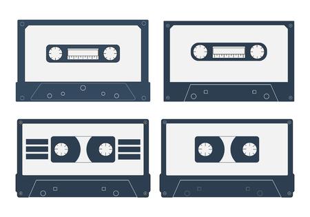 outdated: Set of Cassette tape. Vector illustration