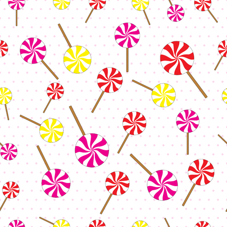 lollipops: Seamless pattern vector background with lollipops Illustration