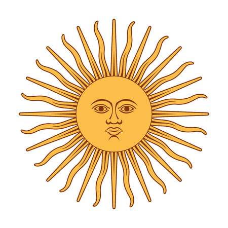 Argentina Sun Of May. Sun of May vector illustration.