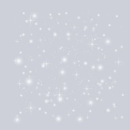 grey sky: Grey Abstract background with stars. Night sky with stars. Merry Christmas starry vector background. Beautiful starry sky background. Vector glittering stars. Illustration