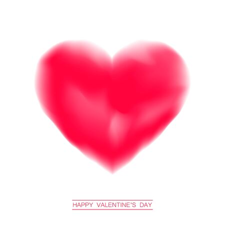day valentine's day: Valentines day abstract background with heart. Big Red Heart, Isolated On White Background. Red valentine heart. Love concept. Valentines day vector illustration.