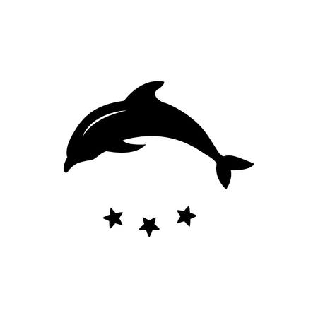 dolphin silhouette: Dolphin silhouette Illustration