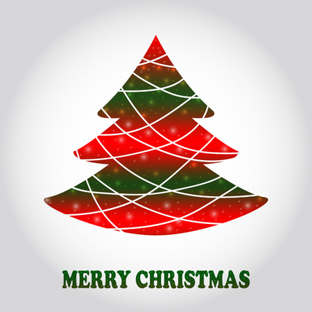 Abstract Christmas tree vector.  Ideas, printables, design, templates. Vector Illustration. Creative Christmas tree card. Illustration