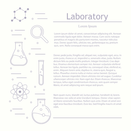 article icon: Vector laboratory, chemical, medical test logo, icon. Laboratory equipment vector logo. Scientific article template, vector science icon. Chemicals and science illustration.