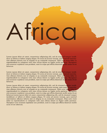 Vector Afrika kaart. Abstracte kaart van Afrika in vectorformaat. Afrikaanse grens en landnaam.