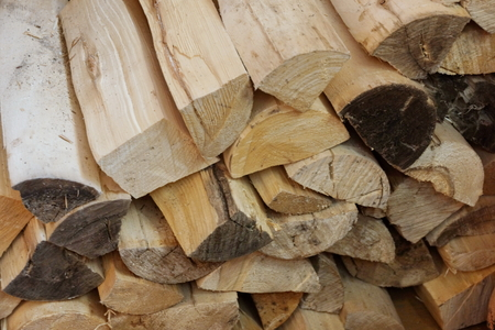 wooden birch logs. for oven and fireplace